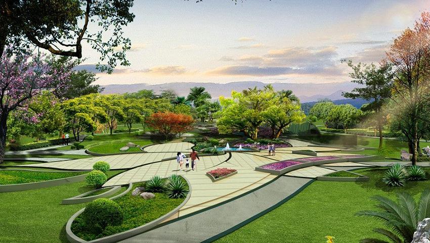 园林绿化 凉亭葡萄架制作 假山水池 园林设计